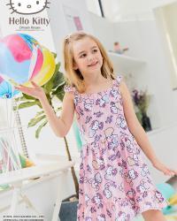 2018SS女童吊带连衣裙K283708